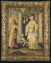 A LOUIS XIV AUBUSSON TAPESTRY