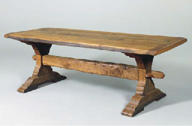 A BAROQUE STYLE WALNUT AND OAK