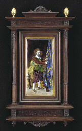 A FRENCH ENAMEL PORTRAIT OF A