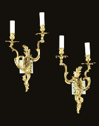A PAIR OF LOUIS XV STYLE TWO B