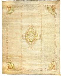 An antique Ushak carpet