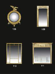 A REGENCY GILTWOOD AND PAINTED
