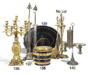 A French gilt bronze eight lig