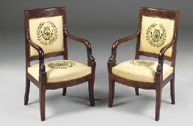 A pair of Louis Philippe mahog
