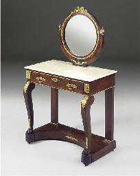 A FRENCH EMPIRE ORMOLU MOUNTED