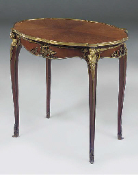 A GILT METAL MOUNTED MAHOGANY