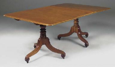 A Victorian mahogany twin pede