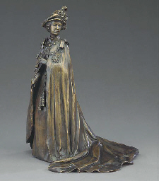 A Royal Worcester bronze of El
