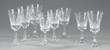 A Tudor Crystal cut part table