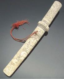 A Japanese bone tanto, 19th ce