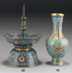 A Chinese cloisonne and gilt b