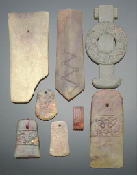 A group of archaic style jade