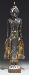 A large Thai lacquered bronze