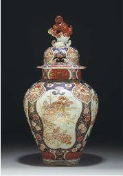 An Imari baluster jar and dome