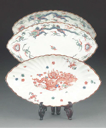 A pair of Kakiemon oval shaped