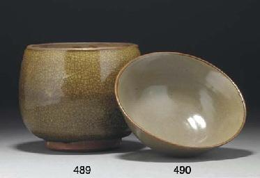 A Chinese greyish celadon glaz