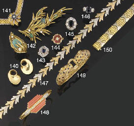 An 18ct. gold, diamond and sap