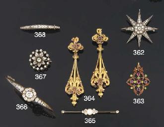 A late Victorian diamond bangl