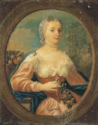 Portrait de dame dans un ovale