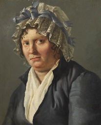 Portrait de femme au bonnet à