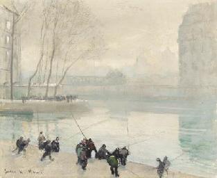 Pêcheurs sur les quais de Pari