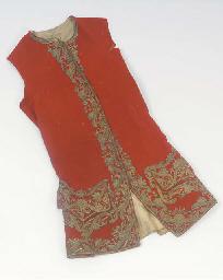 A gentleman's waistcoat of red