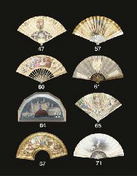 A fan, the paper leaf printed