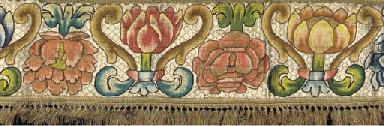 A pair of needlework borders,