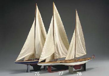 A pond model of the yacht Kili