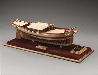 A dockyard style model of an 1