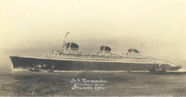 The S.S. Normandie headed out