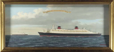 A shadow box depicting the S.S