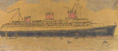 The S.S. Normandie arriving