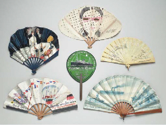 A group of six gala fans from