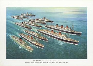 Cunard Line; two company poste