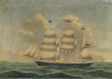 The Dutch barque Voolph in the