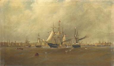 Philadelphia waterfront, 1860,