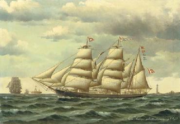 The Danish barque Maria Aistru