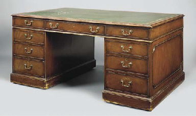 A MAHOGANY PARTNERS DESK