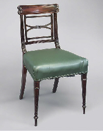 A PAIR OF REGENCY MAHOGANY AND