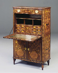 A Dutch marquetry secretaire