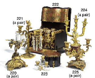 A French brass and tortoiseshe