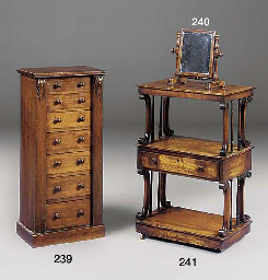 An early Victorian mahogany wh