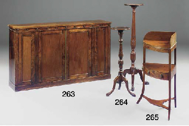 AN EARLY VICTORIAN ROSEWOOD MA