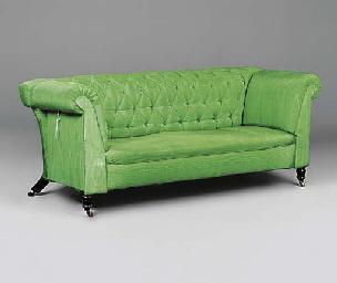A Victorian button down sofa