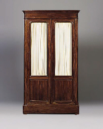 A FRENCH ROSEWOOD BIBLIOTHEQUE