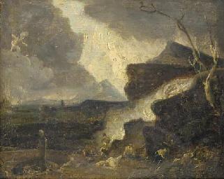 Classical figures in a landsca