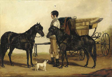 A figure with a carriage, hors