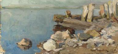 Study of a rocky seascape