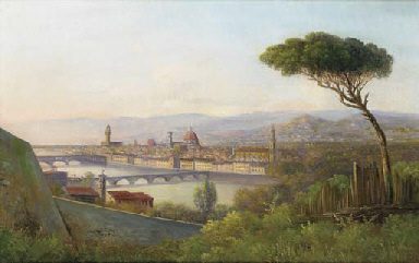 A view of Florence from across